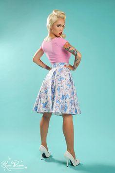 Pinup Girl Clothing | Jersey Cap Sleeve Top in Light Pink    #Pinup #Pinupgirl #PinupGirlClothing #Vintage #Retro #Rockabilly #PUG #Jersey #Top #Pink #Sleeve #Short #ShortSleeve #MasuimiMax #LauraByrnes