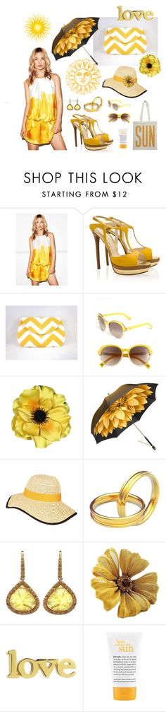 """Sun, Sun, Glorious Sun!"" by skr-designs ❤ liked on Polyvore featuring MANGO, Elie Saab, Christian Dior, Aspinal of London, Hat Attack, Arosha Luigi Taglia, William welstead, Fantasy Jewelry Box, Jennifer Meyer Jewelry and philosophy"