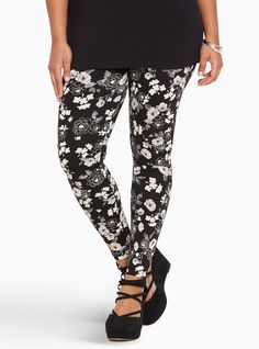 Plus Size Leggings for Women: Faux Leather, Lace, Printed | Torrid