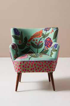 Unique Living Room Furniture, Funky Furniture, Home Decor Furniture, Furniture Makeover, Painted Furniture, Furniture Design, Office Furniture, Chair Upholstery, Upholstered Chairs