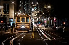 Cable Car in California St - San Francisco by Dominique  Palombieri