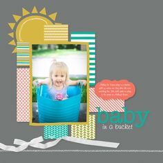 Stamping with Erica: MDS Blog Hop: Sketch (Baby in a Bucket)