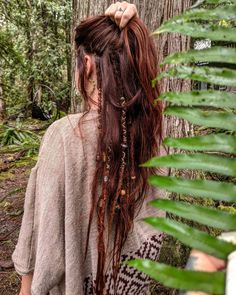 Hippie Dreads, Dreadlocks Girl, Long Hippie Hair, Hippie Style Hair, Half Dreads, Partial Dreads, Half Dreaded Hair, Viking Hair, Long Curly Hair
