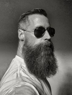 The Beard & The Beautiful Beard And Mustache Styles, Beard Styles For Men, Beard No Mustache, Hair And Beard Styles, Badass Beard, Epic Beard, Grey Beards, Long Beards, Bart Tattoo