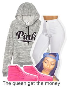 """🐷"" by leshabest ❤ liked on Polyvore featuring Victoria's Secret and Vans"