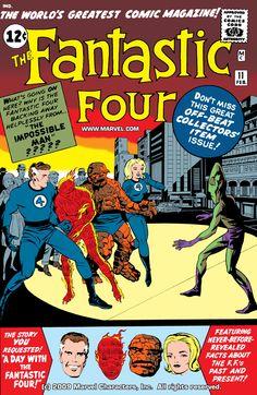 Fantastic Four Issue # 1 (Marvel Comics) Marvel Comics Art, Marvel Comic Books, Comic Books Art, Comic Art, Comic Superheroes, Marvel Vs, Vintage Comic Books, Vintage Comics, Comic Book Artists
