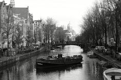 A M S T R D M N #amsterdam #boat #black #white #selfmade