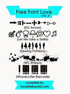 Moxie Fab World: Free Font Love Vol. 6  ~~ {5 free Dingbat fonts w/ links}