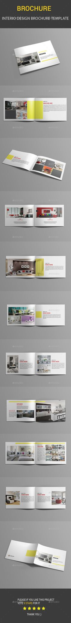 Interio Design Brochure Template InDesign INDD. Download here…