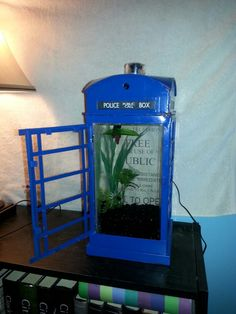 Tardis tank   (Just make sure The Doctor doesn't bring some custard for them ! YIKES!)