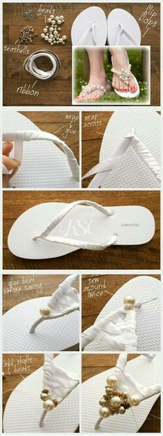 Flip flops for wedding day, for later in evening.