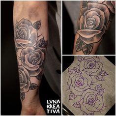 Custom design and tattooing by LUNA KREATIVA, Helsinki, Finland