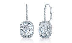 Cushion Cut Diamond Earring Studs
