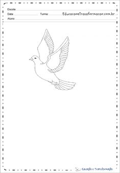 Desenhos De Pombas Dove Drawing, Peace Dove, Colouring In, Drawings
