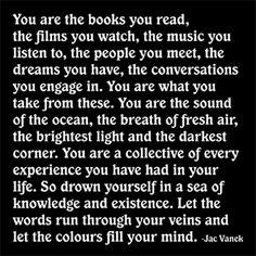 jac vanek you are the books you read - Cerca con Google