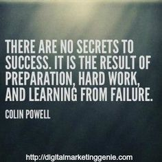 There are no secrets to success, it is the result of preparation, hard work, and learning from failure. Secret To Success, The Secret, My Emotions, Feelings, Digital Marketing Quotes, The Hard Way, Friends In Love, Real Talk, Great Quotes