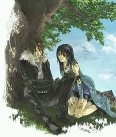 Rinoa and Squall. Final Fantasy VIII