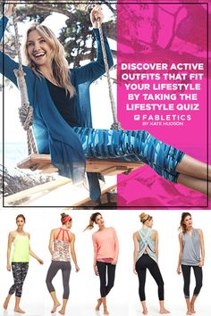 Fabletics by Kate Hudson. A Curated Collection of Activewear that is a Buy Now and Wear Forever. Discover Stylish Workout Outfits at Up To 50% Off That Fit Your Lifestyle by Taking our Lifestyle Quiz! • I like the third and fourth ones!