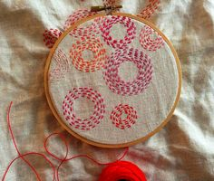 Circles Daily Embroidery, Day 10 by bluepeninsula, via Flickr