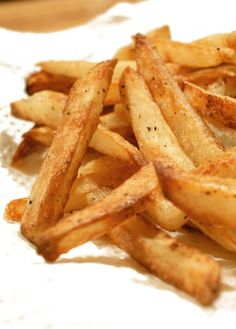 Oven Baked French Fries that are perfectly crispy, golden and delicious!