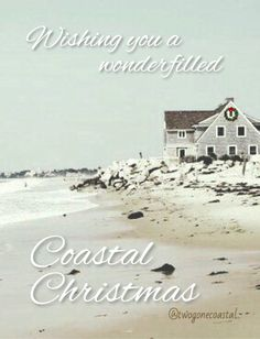 Wishing you a wonderfilled Coastal Christmas Beach Christmas, Coastal Christmas, Beach Holiday, Coastal Farmhouse, Pacific Coast, Seas, Jewels, Inspired, Water