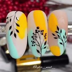 Tulip Nails, Flower Nails, Spring Nail Art, Spring Nails, Autumn Nails, Classy Nails, Stylish Nails, Funky Nails, Cute Nails