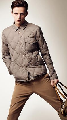 Down-Filled Diamond Quilted Jacket $695