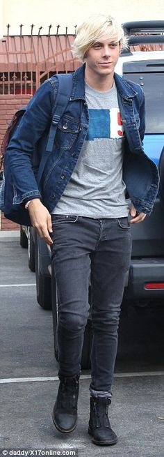 Glee star Riker Lynch (left), who finished second in the first show, arrived in double denim while The Bachelor's Chris Soules looked tired after a four hour stint in the rehearsal studio