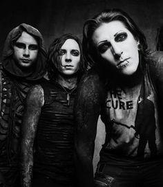 Balz; Ricky; and Chris from Motionless In White