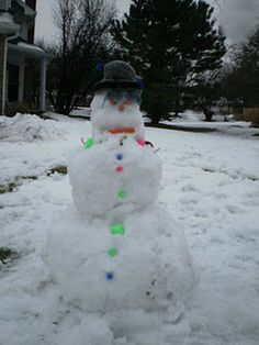 Snowman built by my kids and me in December 2010