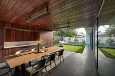 A contemporary addition to a home by Urbane Projects 1920s House, Outdoor Tables, Outdoor Decor, Al Fresco Dining, Cottage Homes, Cladding, Contemporary, Modern, Master Suite