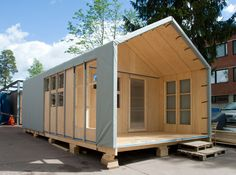 Liina Transitional Shelter / Aalto University Wood Program (8)