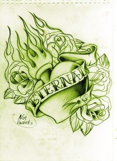 Eternally unfinished by WillemXSM on DeviantArt Tattoo Sketches, Drawing Sketches, Tattoo Drawings, Drawing Ideas, Heart With Infinity Tattoo, Heart Tattoo Designs, Heart Tattoos, Heart Sketch, Diy Artwork