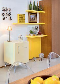 Acabamento de laca na decoração da casa_ Para alguém que como Eu ama amarelo na decor...