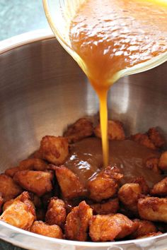 Mandarin Orange Chicken has a coating that you'll fall in love with. The sauce is amazing!
