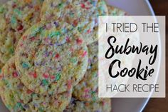 I TRIED THE SUBWAY COOKIE HACK RECIPE
