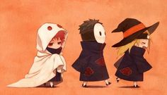 Tobi, Deidara, and Sasori