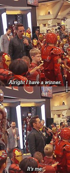 Umh... Tony, i think you're cheating. You can't win everything | #Marvel