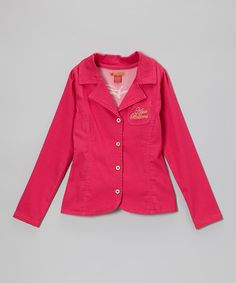 Take a look at this Magenta Blazer - Toddler & Girls by Apple Bottoms on #zulily today!