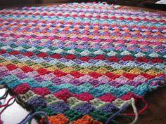 For the Love of Crochet Along: Tiny Tiles Crochet Blanket