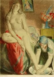 'La Toilette' by Jakub Obrovsky. Woman Painting, Painting & Drawing, F Pictures, And God Created Woman, Art For Art Sake, Tantra, Erotic Art, Rose, In This World