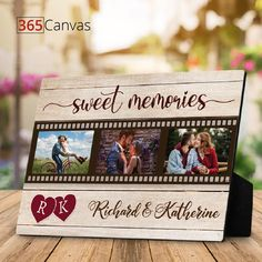 Life with your significant other by your side has been magical and memorable. Each moment with them has been sweeter than the next. For your sweetheart, get the Sweet Memories Plaque. Customize it with your photos and names and add it to the list of your shared sweet moments. #sweet #memories #anniversary #gifts #giftideas #couple #love #photo #plaque #365canvas