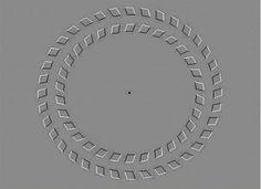 """""""¡Tómate un break! Mira el centro y mueve la cabeza de atrás a adelante. ¿Se mueven los círculos?"""""""