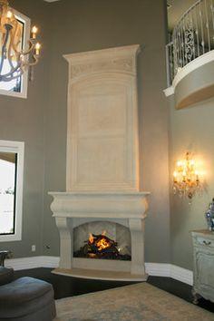 Cast Stone Fireplace Mantels - mediterranean - living room - oklahoma city - DeVinci Cast Stone