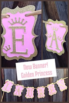 Royal Princess Birthday Decorations | Pink and Gold Princess - Princess Party by DoItAllDiva on Etsy https://www.etsy.com/listing/206695005/royal-princess-birthday-decorations-pink