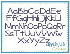Beach Day Embroidery Font