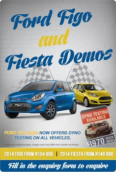 Great prices on Ford Figo and Fiesta Demos.