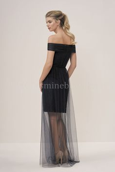 dca67f264172 P196060 Knee Length Off-the-Shoulder Lace   Soft Tulle Bridesmaid Dress