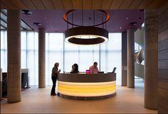 Jestico + Whiles - Curved Reception desk