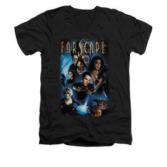 Farscape - Comic Cover Adult V-Neck T-Shirt